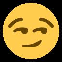 Smirk Face Emoji Icon