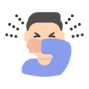 Cough Sneeze Medical Icon