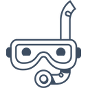Snorkel Diving Mask Icon