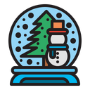 Snow Ball Christmas Decoration Icon
