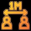 Coronavirus Distance M Icon