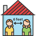 Social Distance In Home Icon