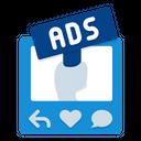 Social Media Advertising Social Media Campaign Icon