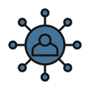 Social Network Affiliate Marketing Connected User Icon