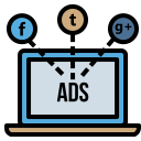 Socialmedia Advertising Digitalmarketing Branding Facebook Twitter 78 Icon