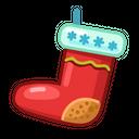 X Mas Sock Icon