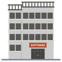 Software House Office Building Icon