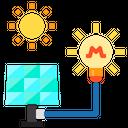 Solar Power Light Power And Energy Icon
