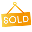 Sold Sign Label Icon