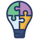 Idea Innovative Light Bulb Icon