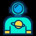 Saturn Man Astronaut Icon