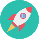 Spaceship Rocket Astronaut Icon