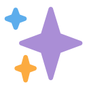 Sparkles Star Decoration Icon