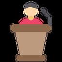 Speech Podium Mic Icon
