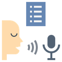 Speech Recognition Translate Icon