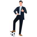 Sports Businessman Icon
