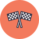 Sports Car Bike Icon