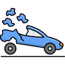 Sports Car Crash Accident Car Icon