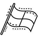 Sports Flag Checkered Flag Flag Icon