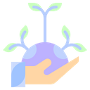 Sprout Replant Afforestation Icon