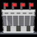 Stadium Sports Arena Building Icon