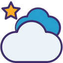 Star And Clouds Icon