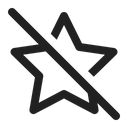 Star Off Dislike Inactive Icon