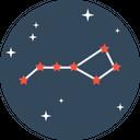 Star Pattern Galaxy Icon