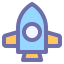 Rocket Science Spaceship Icon