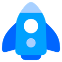 Startup Rocket Launch Icon