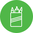 Stationary Pencil Rule Icon
