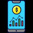 Smartphone Statistics Analytics Icon