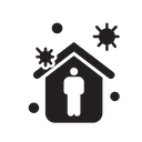 Covid Stay At Home Virus Icon