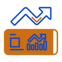Stock Market Application Training Investment Icon