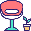 Stool Chair Seat Icon