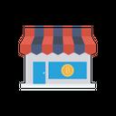 Store Shop Bitcoin Icon