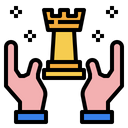 Chess Hands Digital Marketing Icon