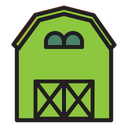 Straw Shed Building House Icon