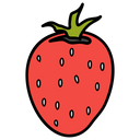 Strawberry Fruits Healthy Food Icon