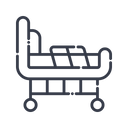 Bed Furniture Stretcher Icon