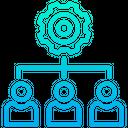 Management Organization Work Flow Icon