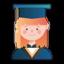 Student Graduate Lady Girl Icon