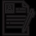 Document Portfolio Resume Icon