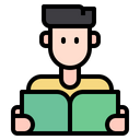 Man Avatar Reading Icon