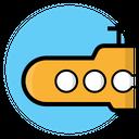 Submarine Nautical Marine Icon
