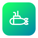 Submarine Underwater Nautical Icon