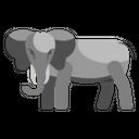 Sumatran Elephant Unique Animal Icon