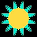 Sunny Sunshine Weather Icon