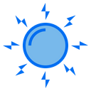 Sun Power And Energy Technology Icon