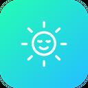 Sun Smiley Sunshine Icon